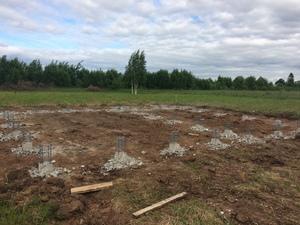 Фундамент с бетонным ростверком для дома из блоков в селе Яковлевское