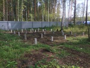 Фундамент для дома из бруса в КП Заповедник
