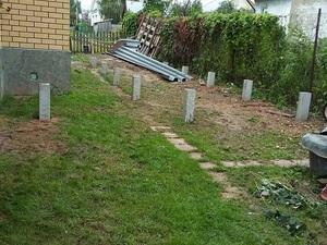 Фундамент для бани из бруса в поселке Красное-на-Волге