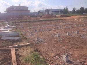 Фундамент с бетонным ростверком для кирпичного дома в Ижевске