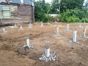 Фундамент с висячим ростверком для дома в Череповце