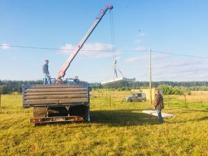 Фундамент для дома из газоблока в деревне Лудорвай