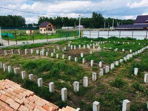 Фундамент для кирпичного дома в поселке Морской