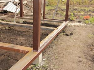 Фундамент с обвязкой швеллером в Липецкой области