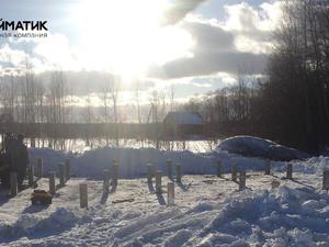Фундамент для дома из бруса в деревне Куркино