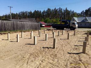 Фундамент для сруба из бревна в поселке Лесохимучасток