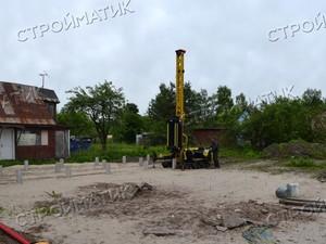 Фундамент под дом в садоводстве Искра Ленинградской области