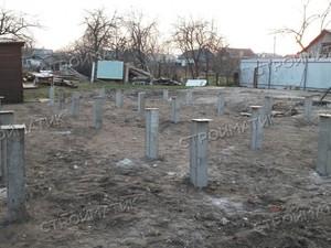 Фундамент для дома из бревна в городе Семилуки