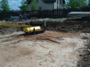 Фундамент для бани из бруса в деревне Михайловская