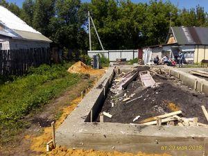 Фундамент для дома из газобетона на хуторе Семиколенов