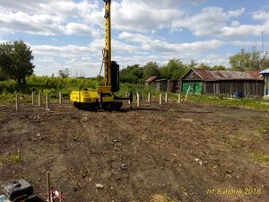 Фундамент для дома из бруса в селе Дубовое