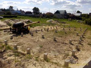 Фундамент для дома из газобетона в селе Доброе