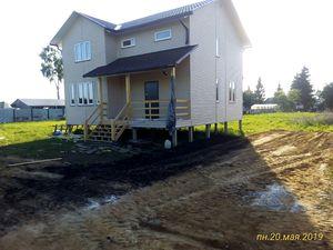 Фундамент для двухэтажного каркасно-щитового дома в деревне Кулешовка
