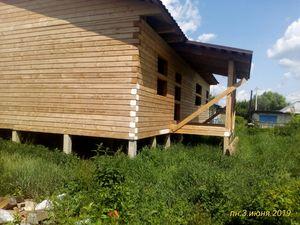 Контрольная проверка фундамента через год после установки для дома из бруса в селе Дубовое