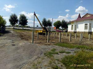 Фундамент под магазин в с. Боринское, Липецкий район