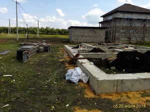 Фундамент с бетонным ростверком в г. Липецк, поселок Романово