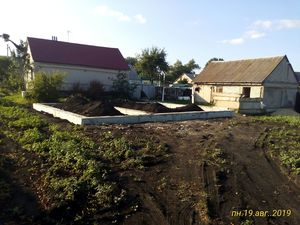 Ростверковый фундамент на жб сваях в с. Частая дубрава, Липецкий район