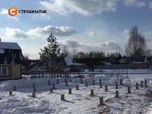 Фундамент для дома из бруса в СНТ Ручеек деревни Аксинькино
