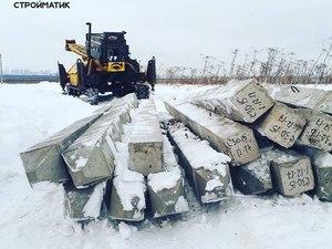 Фундамент для дома из бруса в деревне Садыково