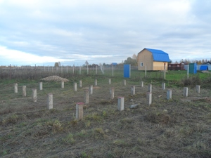 Фундамент для дома из бруса в деревне Осовые