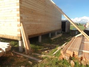 Фундамент для дома из профилированного бруса в деревне Ивановский перевоз