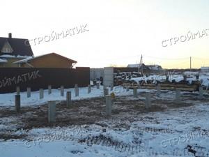 Фундамент для дома из бревна в селе Ступино