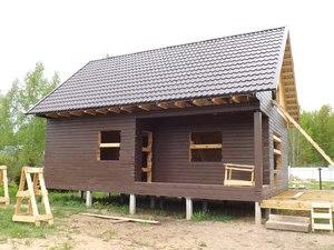 Фундамент для дома из бруса в Борцино