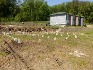 Фундамент для двухэтажного бревенчатого сруба в селе Вербилово