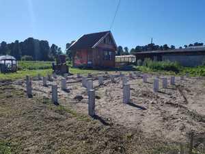 Фундамент для дома из бруса с террасой в селе Зоркальцево
