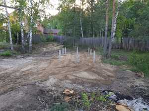 Фундамент для гаража из бруса в селе Кафтанчиково