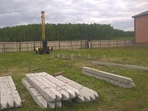 Фундамент для дома из бруса с верандой в Шайдурово