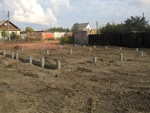 Фундамент для блочного дома в поселке Октябрьский, Челябинск