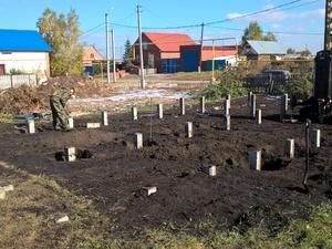 Фундамент для дома из газобетона в деревне Исаково, Челябинск
