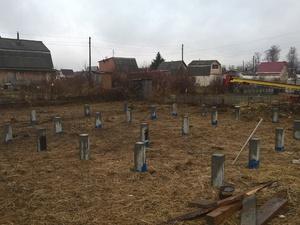 Фундамент для дома из бруса в СНТ Строитель-2