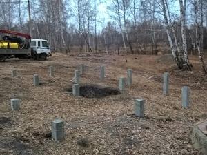 Фундамент для каркасного дома в СНТ Железнодорожный, Челябинск