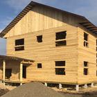 Фундамент для двухэтажного дома из бруса с пристроенными гаражом и баней, навесами, крыльцом впос. Слобода вольная, Томской области