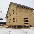 Фундамент для двухэтажного дома из бруса в поселке Зональная Станция, Томской области