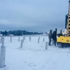 Фундамент на забивных ж/б сваях для дома из бревна в деревне Каменное, Удмуртия от компании Стройматик