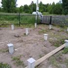 Фундамент для бани из бруса в пос. Родионово