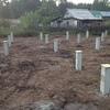 Фундамент на ж/б сваях для двухэтажного дома в Кировской области от компании Стройматик