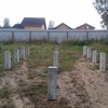 Фундамент на забивных ж/б сваях для дома в городском поселке Павлово Ленинградской области от компании Стройматик