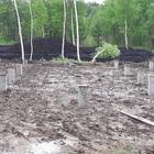 Фундамент на забивных ж/б сваях для каркасного дома в поселке Горный Щит, Екатеринбург от компании Стройматик