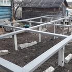Фундамент на забивных ж/б сваях с обвязкой швеллером для каркасного дома в поселке Таватуй, Екатеринбург от компании Стройматик