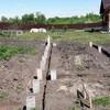 Фундамент на забивных ж/б сваях для дома из кирпича в селе Горки Воронежской области от компании Стройматик