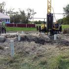 Фундамент под хоз. блок на ж/б сваях в селе Хохол от компании Стройматик