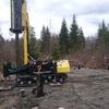 Фундамент на забивных ж/б сваях для дома диаметром 8,55 м в деревне Педасельга Прионежского района республики Карелия от компании Стройматик