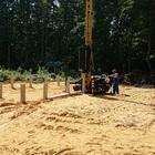Фундамент на забивных ж/б сваях с бетонным ростверком для дома из блоков в городе Котовск Тамбовской области от компании Стройматик