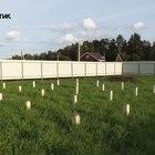 фундамент на забивных ж/б сваях для двух каркасных домов в деревне Тверской области от компании Стройматик