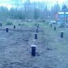 Фундамент на ж/б сваях для дома с верандой в Карелии от компании Стройматик