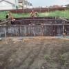 Свайный фундамент для кирпичного дома на жб сваях с ростверком в Липецке от компании Стройматик